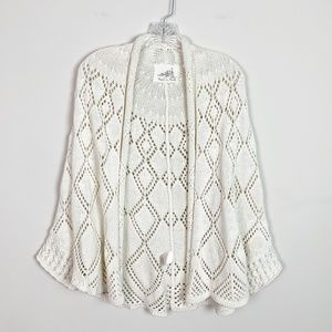 Anthropologie | crochet oversized poncho cardigan